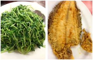 snow peas and sole