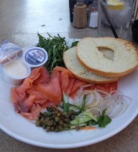 bagels and smoke salmon